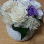 法事のお供えの花に親戚から日比谷花壇のプリザーブドフラワーが届いた。