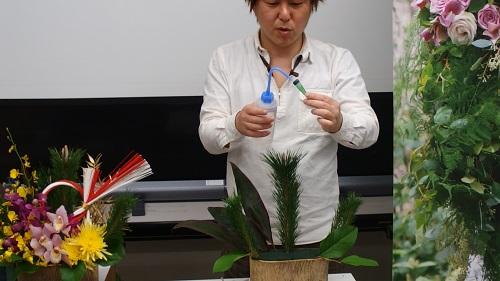 日比谷花壇お正月デモンストレーション