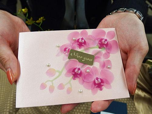日比谷花壇FORYOUピンクメッセージカード