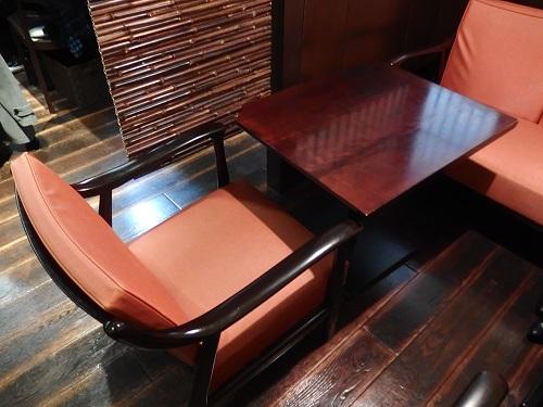 この椅子がなんとも座りやすい。