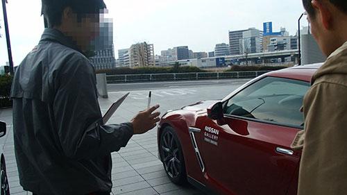 日産グローバルギャラリーGT-R試乗