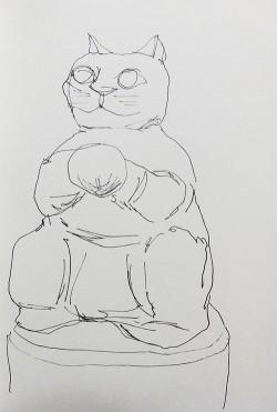 新宿住友ビル前の猫の玉ちゃん像