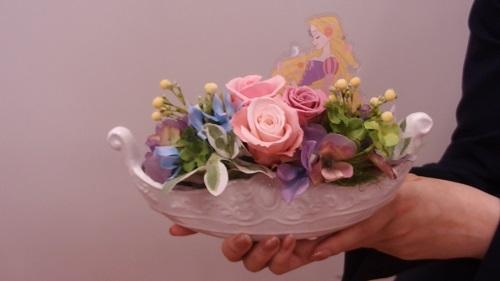 日比谷花壇母の日ディズニー プリザーブド&アーティフィシャルアレンジメント「フラワリーゴンドラ(ラプンツェル)」