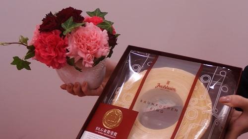 日比谷花壇母の日ユーハイム「バウムクーヘンのセット」