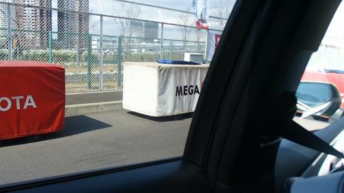 新型プリウス自動縦列駐車お台場メガウェブMEGAWEB