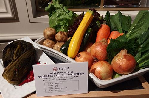 福岡県大刀洗町 納活女子部考案ビューティー便大地の恵みを感じるビューティードリンク用野菜セット 寄付金額¥5,000