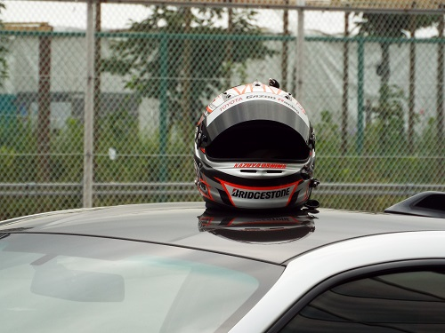 大嶋選手のヘルメット