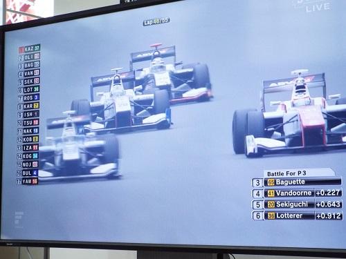 レース最終での4台での3位争い