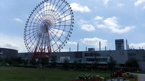 りんかい線東京テレポート駅から歩いて行く。