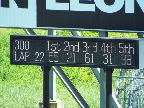 66周のうち22周目の順位だ。GT300の1位は55号車。