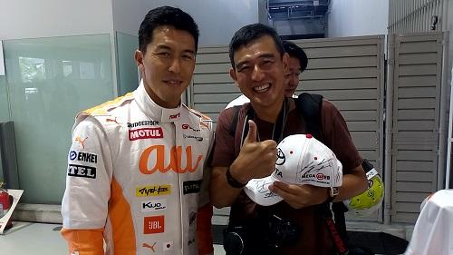 伊藤大輔選手と記念撮影してもらった。感激だ。