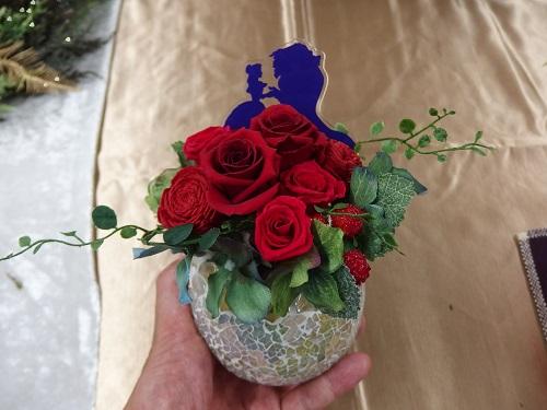 日比谷花壇ディズニープリザーブドフラワータンデブルーム美女と野獣