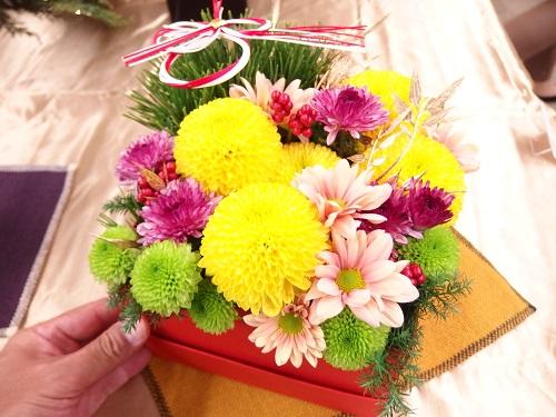 日比谷花壇2017お正月アレンジメント「福善」