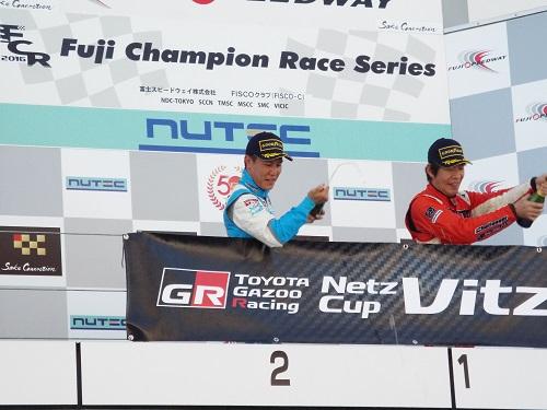 Vitzヴィッツ最終戦富士スピードウェイ表彰台水谷大介選手