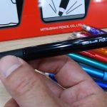 とうとう三菱鉛筆から消せるボールペンが出た!【uni-ball R:E(ユニボールアールイー)】は筆記にもイラストにも使いやすい!【ロフト春の新作文具展示会】