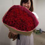うれしはずかし100本のバラ!~誕生日プレゼントにおすすめ~日比谷花壇敬老の日イベントに行ってきた。