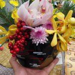 お正月には花を飾ろう!日比谷花壇のお正月『招福華』~玄関リビング編